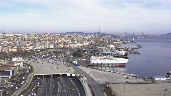 Thumbnail for Istanbul Yavuz Sultan Selim Bridge Aerial View 4