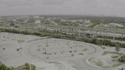 Aerial Miami Golden Glades Bus Transit Park And Ride