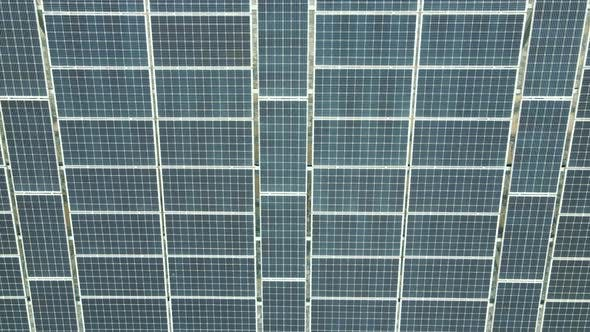 Thumbnail for Close Up Top View on Solar Panel. Panorama of Solar Panels From a Quadcopter. Background or Texture