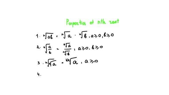 Properties of Nth Root