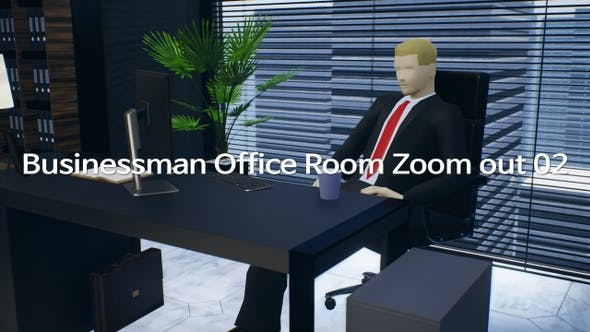 Businessman Office Room Zoom Out 02