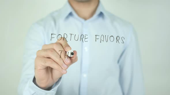 Thumbnail for Fortune Favors The Bold, Writing On Screen