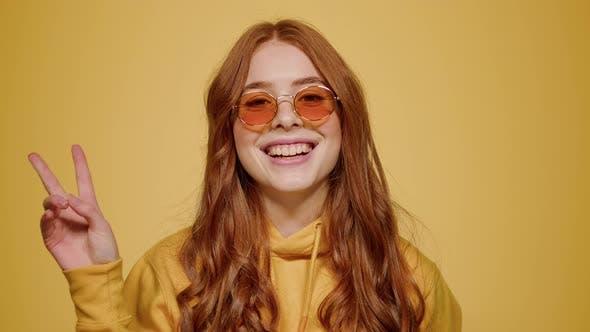 Cute Girl Acting in Studio