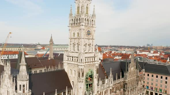 Thumbnail for Munich's Town Hall at Marienplatz, Germany