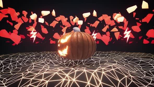 Thumbnail for Halloween Pumpkin Lantern 4k