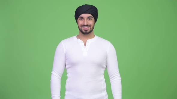 Thumbnail for Young Happy Bearded Indian Man with Turban Smiling