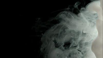 Cloud Of Paints Underwater