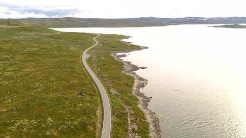 Beautiful Scenic landscape with scenic route