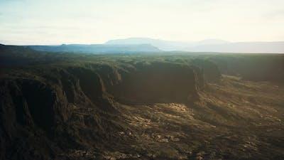 Rocky Desert at Dramatic Sunrise