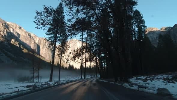 Thumbnail for Driving Car in Yosemite Valley. California, USA