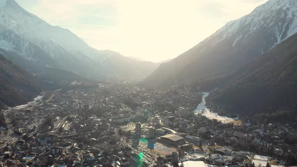 Thumbnail for Aerial View, A Beautiful View of the Village Sandwiched Between Two Mountain Ranges