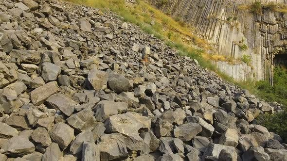Thumbnail for Rock Slides and Stones Scattered Over Hills, Risk of Mudflow, Geology Science
