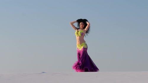 Girl Dances Belly Dancing