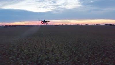 Agro Drone In Sky