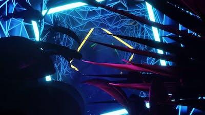 VJ Loops Animation Neon Jungle