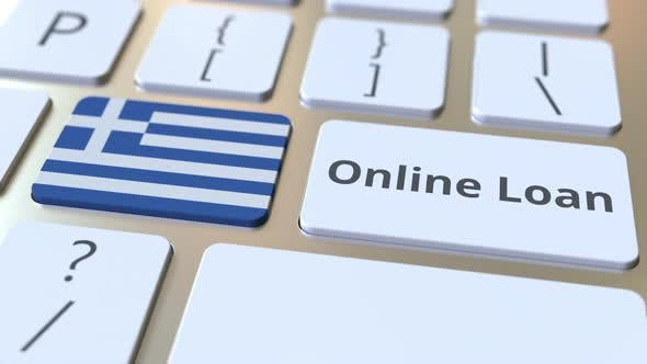 Thumbnail for Online Loan Text and Flag of Greece on the Keyboard