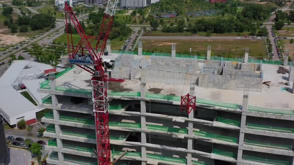 Cover Image for Building Construction Site Drone Shot 4K