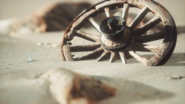 Thumbnail for Large Wooden Wheel in the Sand