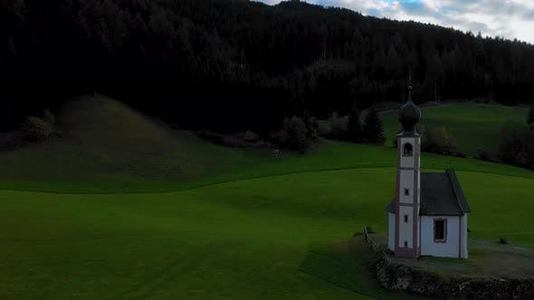 Thumbnail for Bird's-eye View of the Church and the Valley Near the Village of Santa Maddalena