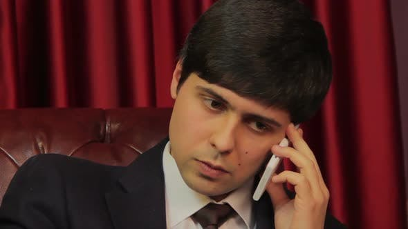 Thumbnail for Businessman Negotiating on the Phone, Career, Making Phone Calls