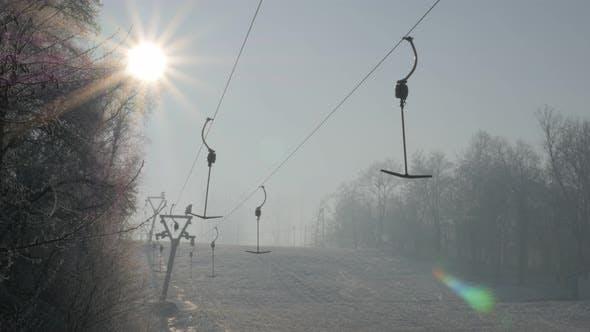 Thumbnail for Beautiful morning day on Kraljevica hill ski slopes under snow   4K 2160p UHD panning  footage - Ski