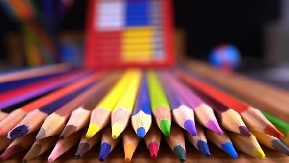 Cover Image for School Equipment Colorful  Pencils