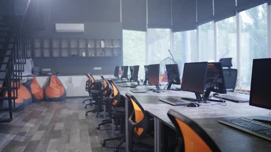Thumbnail for An Empty Workplace with Computers