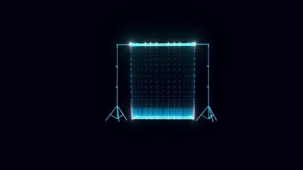 photo studio background hologram Rotating hd