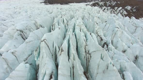 Svinafellsjokull Glacier. Iceland. Aerial View