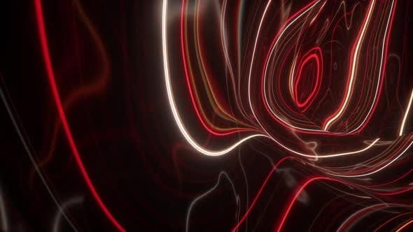 Thumbnail for 3d rendern, abstrakte topographische animationshintergrund, fluoreszierende ultraviolette licht, leuchtende neon