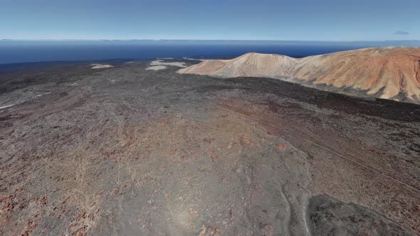 Seamless Looped Aerial of Timanfaya, Lanzarote, Canary Islands