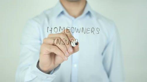 Homeowners Insurance, Writing On Screen