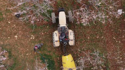 Tractor Agricultural Spraying Drone