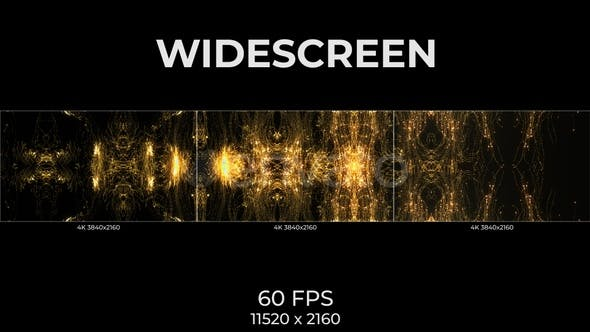 Widescreen Gold Lines
