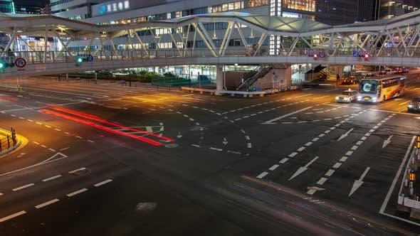 Thumbnail for Osaka Motorway Car Traffic Movement Timelapse