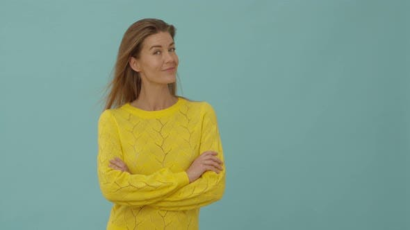 Thumbnail for Woman in Yellow Top Smiling