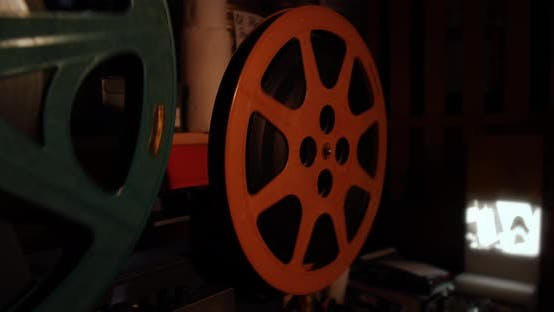 Thumbnail for Film Projector Playing Old Vintage Movie