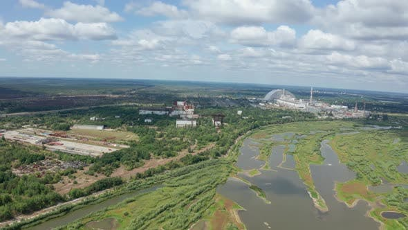 Thumbnail for Drone Flight Over Territory of Former Power Plant