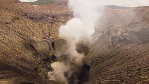 Active Volcano Bromo Mountain of Indonesia West Java