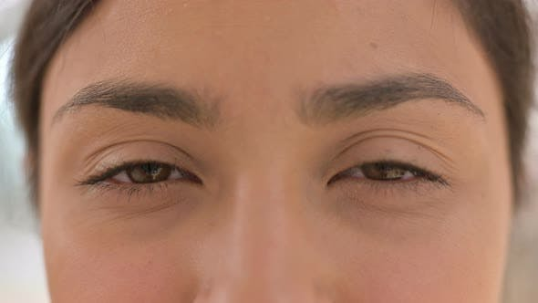 Thumbnail for Close Up of Blinking Eyes of Indian Woman