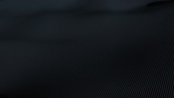 Thumbnail for 4K Loop Abstract Black Wave Surface Background