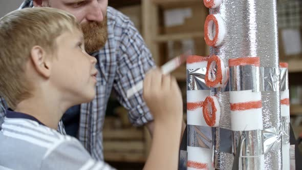 Thumbnail for Boy Finishing Handicraft