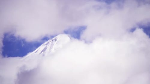 Clouds in the Andes Mountains.