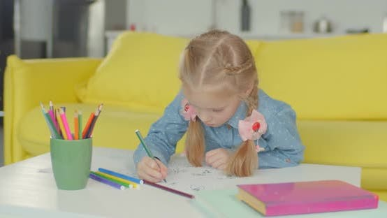 Thumbnail for Little Painter with Felt Tp Pen Drawing Artwork