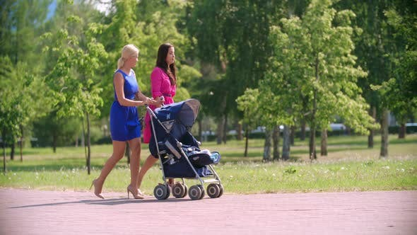 Beauties Walking with Baby