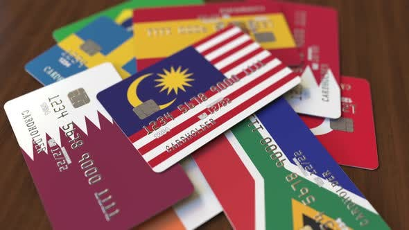 Thumbnail for Emphasized Bank Card with Flag of Malaysia