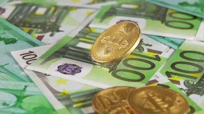 Bitcoin Spins on the Bunch of Hundred-Euro Bills