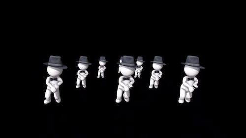 3d Dude Group Dance