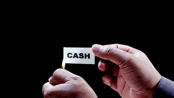 Burning Paper Writing Cash