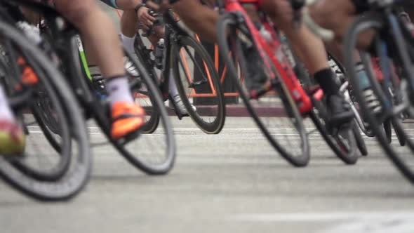 Thumbnail for Men racing in a road bike bicycle race.